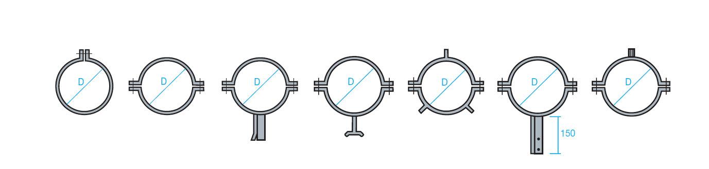 Abrazaderas para conducto circular