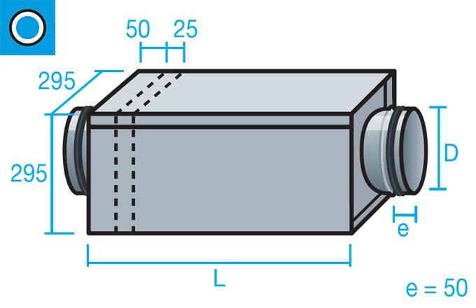 Caja portafiltros G4 para conducto circular