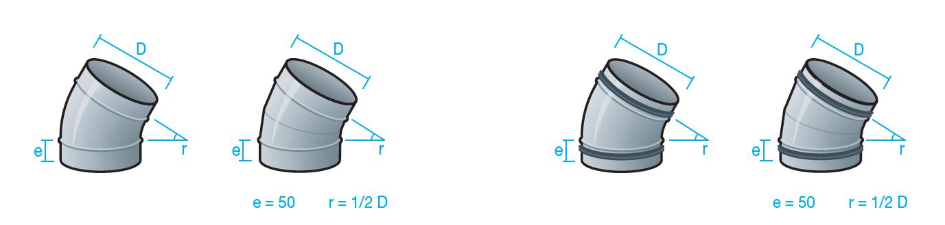codos 30 grados para conducto circular