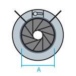 Compuerta de regulación IRIS para conducto circular