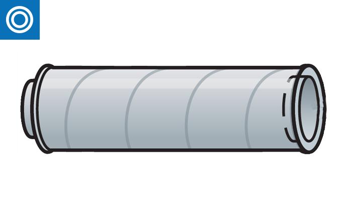 Conducto doble tubo aislado con adaptador incorporado