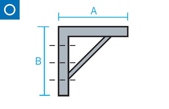 Escuadra soporte para conducto circular