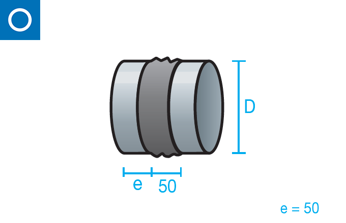 Manguito antivibratorio para conducto circular