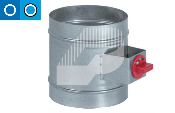Regulador de caudal manual con cierre hermético para conducto circular