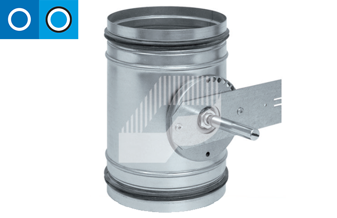 Regulador de caudal para motorizar para conducto circular