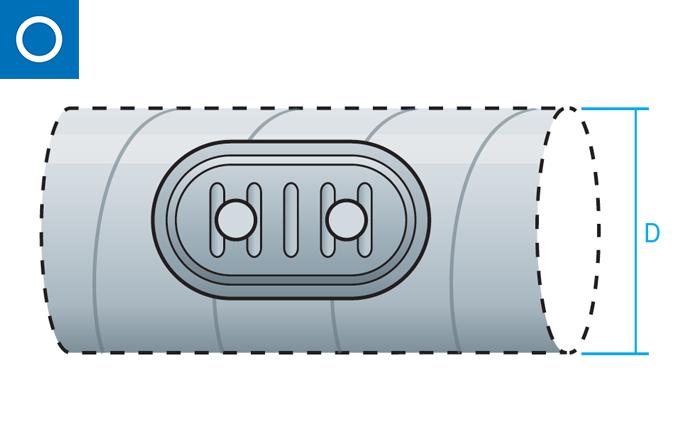Tapa registro RRD para conducto circular