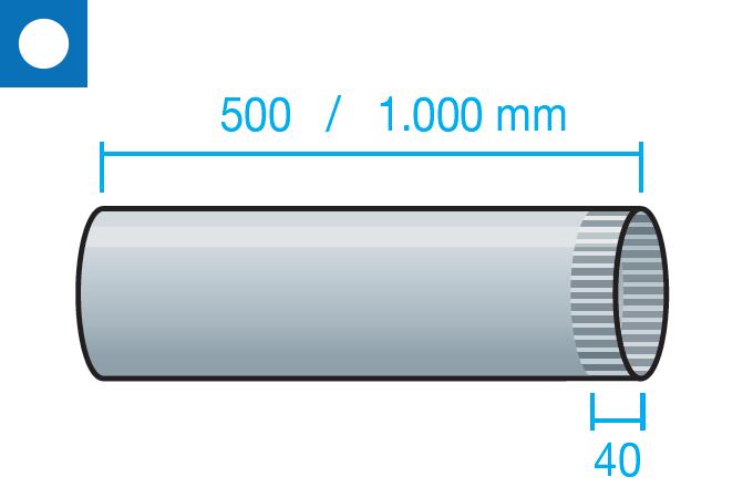 Tubo liso corrugado autoconectable