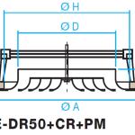Difusor circular de cono fijo E-DR50+CR+PM