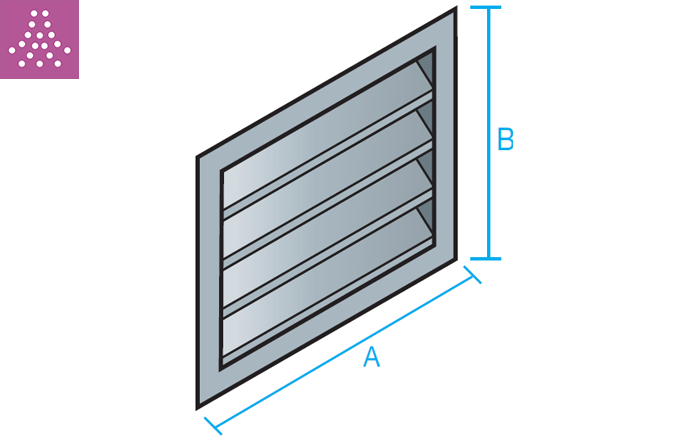 Rejilla de toma de aire exterior TAE con tela metálica
