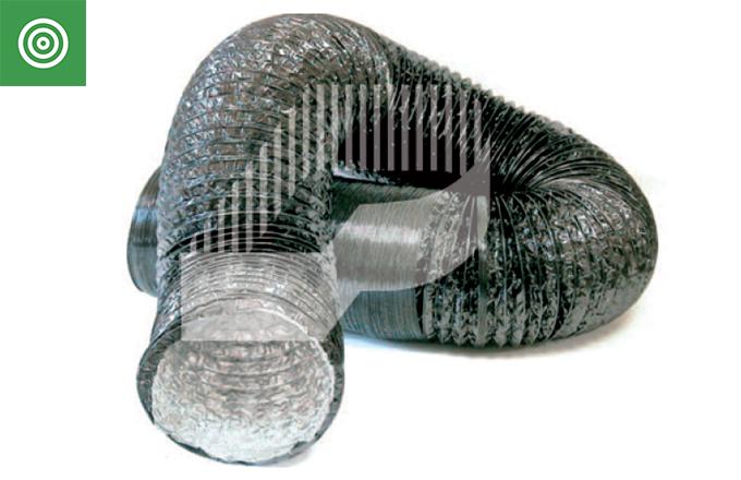 Tubo superflexible de aluminio COMBI con protección exterior