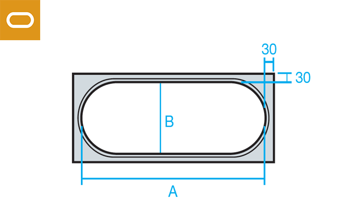 Accesorio conducto oval - brida