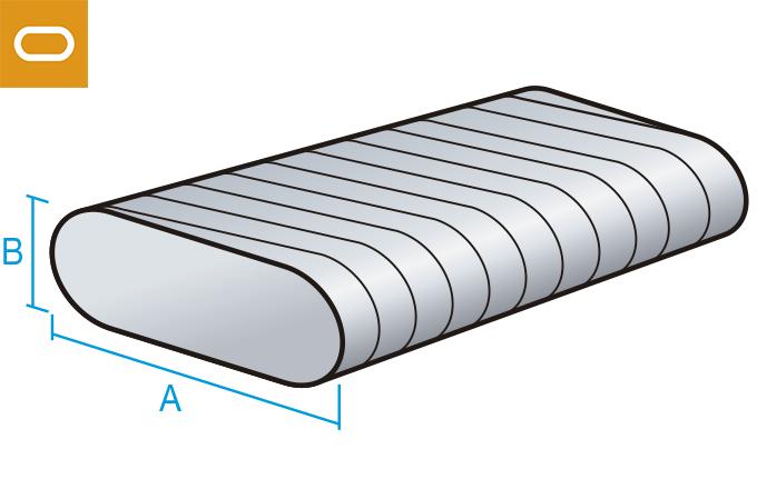 conducto oval galvanizado