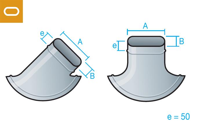 Accesorio conducto oval - injerto