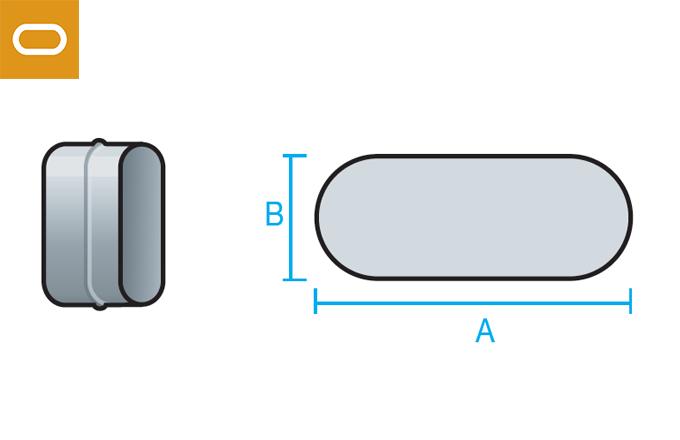Accesorio conducto oval - manguito
