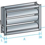 compuerta regulación rectangular manual