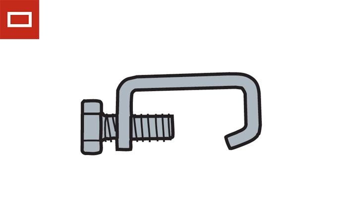 Grapas de unión con tornillo para conducto rectangular