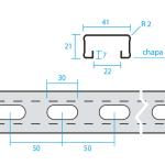 Guía soporte perforada U