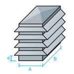 Sombrerete rectangular