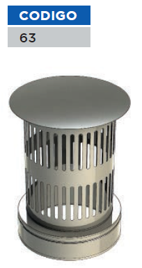 Terminal chimeneas vertical con rejilla