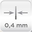 Espesor acero 0,4mm