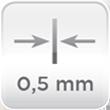 Espesor acero 0,5mm