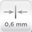Espesor acero 0,6mm