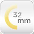 Espesor aislamiento 32mm