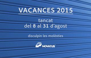 Novatub vacances 2015