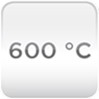 Temperatura trabajo 600ºC
