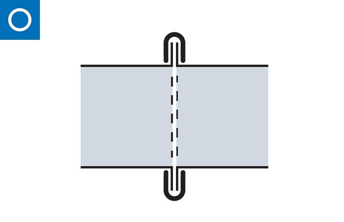 Abrazadera unión de cierre rápido para conducto con pestaña