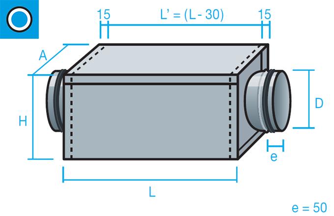 Caja portafiltros para conducto circular