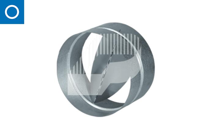 Chaqueta anti-retorno RSK para conducto circular