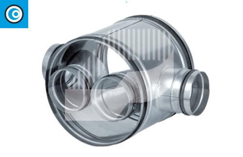 Cruz Shunt con tubo interior para conducto circular con junta de goma