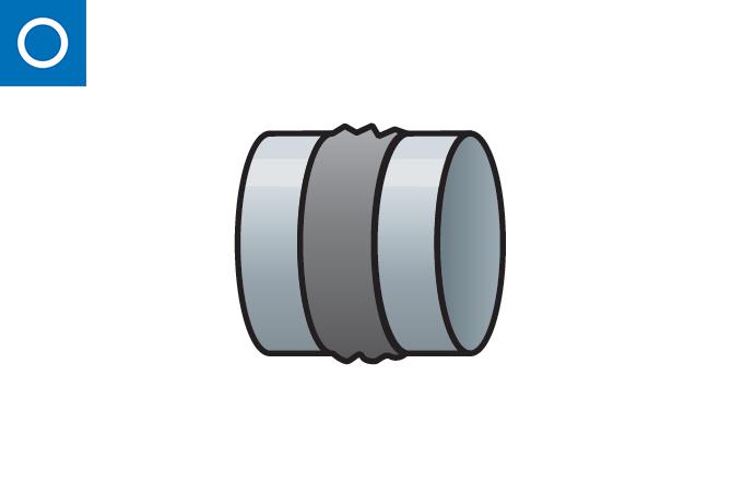 Lona antivibratoria 400º para conducto circular
