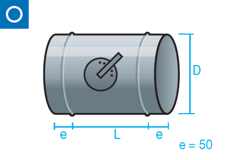 Regulador de caudal manual para conducto circular