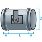 Regulador de caudal para motorizar con junta de goma para conducto circular