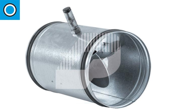 Regulador de caudal constante con junta de goma para conducto circular
