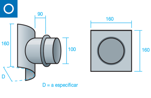 Toma de muestras para conducto circular