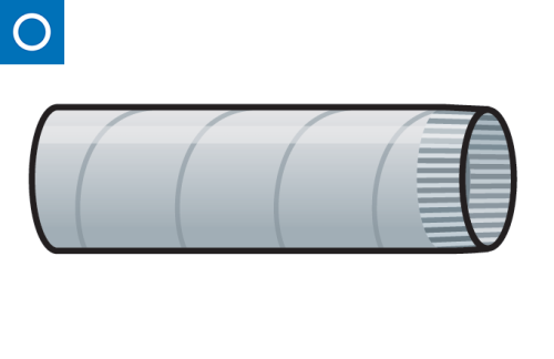 conducto circular - tubo helicoidal corrugado autoconectable