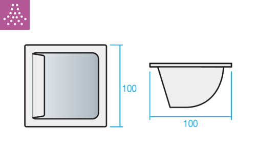 Difusor de alta inducción TAD curvo