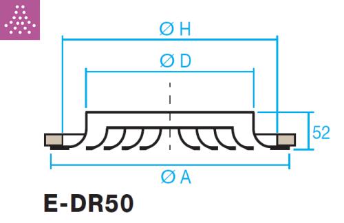 Difusor circular de cono fijo E-DR50