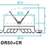 Difusor circular de cono fijo E-DR50+CR