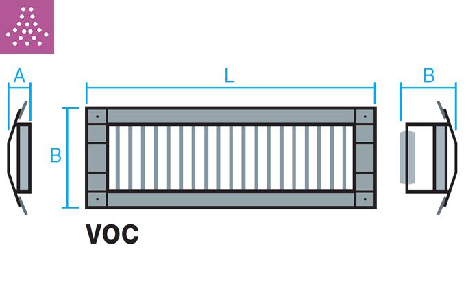 Rejilla para tubo circular de impulsión o retorno VOC