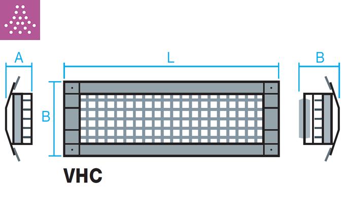Rejilla para tubo circular de impulsión o retorno VHC
