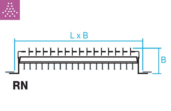 Rejilla para tubo circular de impulsión o retorno RN