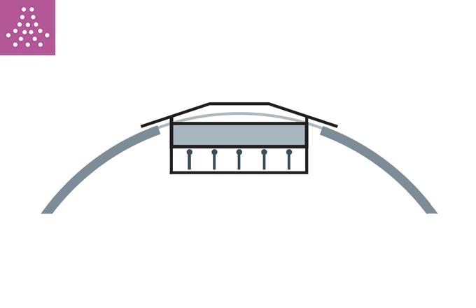 Rejilla para tubo circular de impulsión o retorno