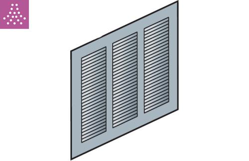 Rejillas estampadas rectangulares