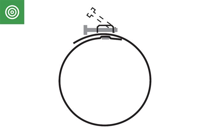 abrazadera fleje para tubo flexible