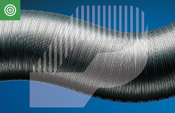 Tubo flexible de aluminio comprimido