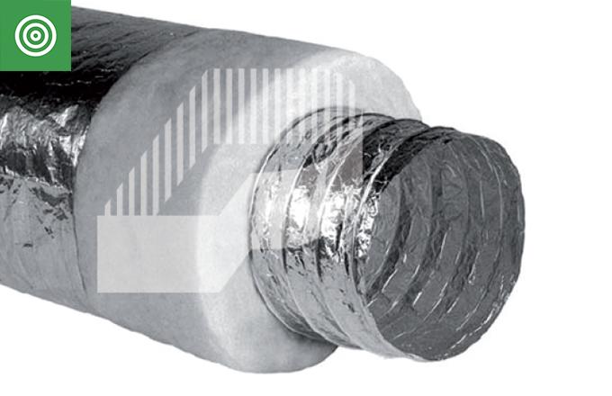 Tubo superflexible de aluminio ALUFLEX acústico